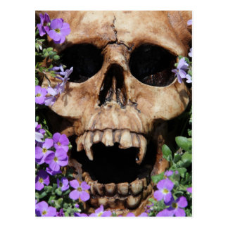 Calavera - Gothic, tarjeta postal/ Postal