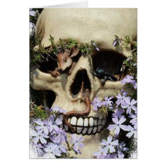 Calavera - Gothic, tarjeta/ Tarjeta De Felicitación