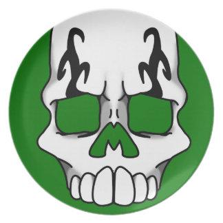 Calavera (Green) Plate