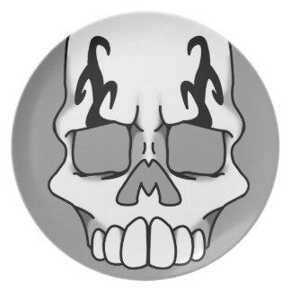 Calavera (Grey) Plate