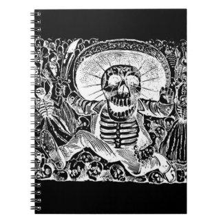Calavera Oaxaquena black Notebook