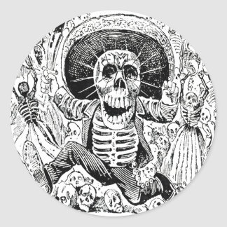 Calavera Oaxaqueña by José Guadalupe Posada 1903 Classic Round Sticker