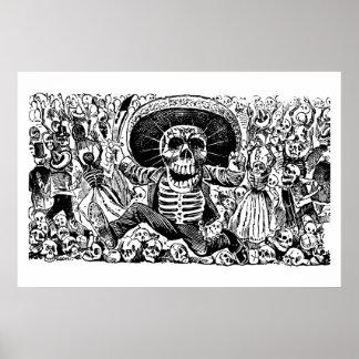 Calavera Oaxaqueña de José Guadalupe Posada Póster