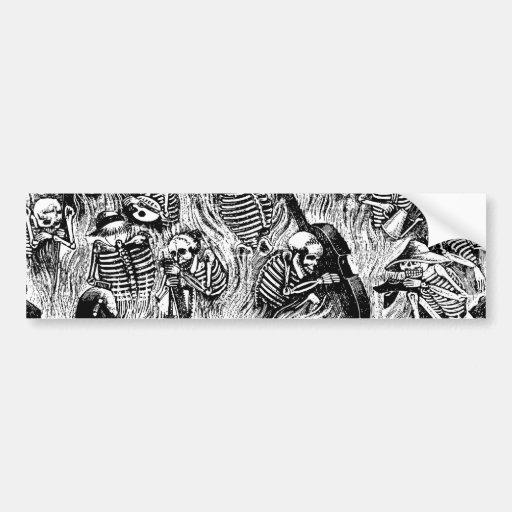 Calavera of Artists and Artisans c. 1900s Mexico Bumper Sticker