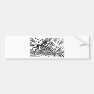 """""""Calavera of Don Quixote"""" circa early 1900's Bumper Sticker"""