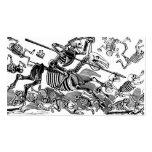 """Calavera of Don Quixote"" circa early 1900's Business Card Template"