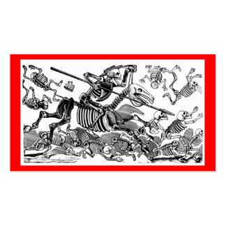 """""""Calavera of Don Quixote"""" circa early 1900's Business Card"""
