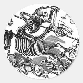 """""""Calavera of Don Quixote"""" circa early 1900's Classic Round Sticker"""