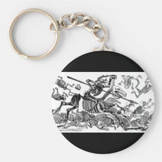 """Calavera of Don Quixote"" circa early 1900's Keychain"