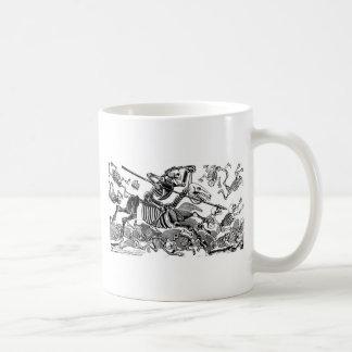 """Calavera of Don Quixote"" circa early 1900's Coffee Mugs"