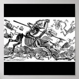 """""""Calavera of Don Quixote"""" circa early 1900's Poster"""