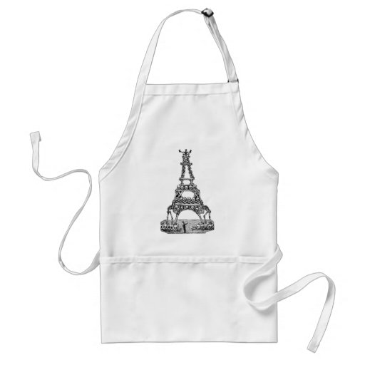 Calavera of the Eiffel Tower c. late 1800's Aprons