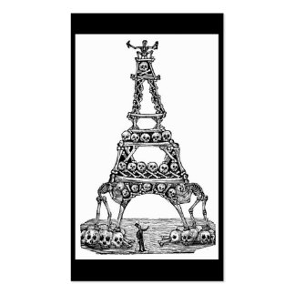 Calavera of the Eiffel Tower c. late 1800's Business Card Template