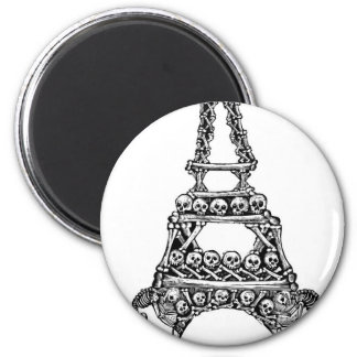 Calavera of the Eiffel Tower c. late 1800's Refrigerator Magnets