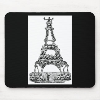 Calavera of the Eiffel Tower c. late 1800's Mouse Pad
