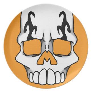 Calavera (Orange) Plate