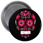 Calavera Pin Redondo 10 Cm