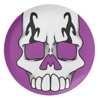 Calavera (Purple) Plate