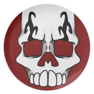 Calavera (Red) Plate