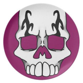 Calavera (Red-Violet) Plate