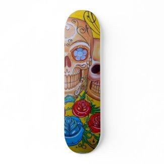 calavera skateboard