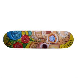 calavera skateboard deck