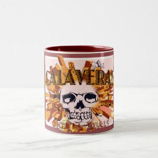 """Calavera!"" Spanish for Skull on Coffee Mug. Two-Tone Coffee Mug"