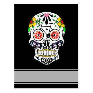 Calavera - Sugar Skull Bike Postcard