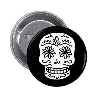 Calavera Sugar Skull Pinback Buttons