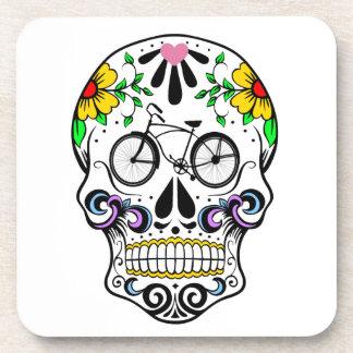 Calavera - Sugar Skull Cruiser Bike Beverage Coaster