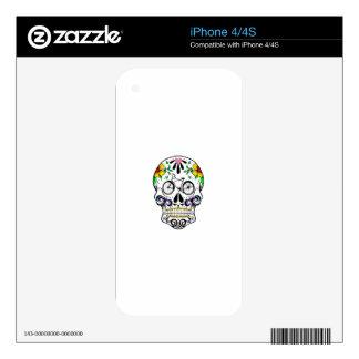 Calavera - Sugar Skull Cruiser Bike iPhone 4S Decal