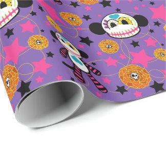 Calavera - Sugar Skull Monkey Gift Wrap - Purple