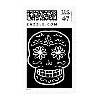Calavera Sugar Skull Postage Stamp