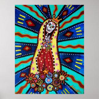 Calavera Virgen Guadalupe Poster