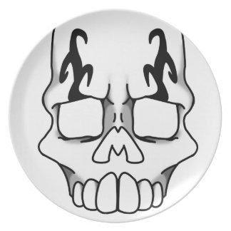 Calavera (White) Plate