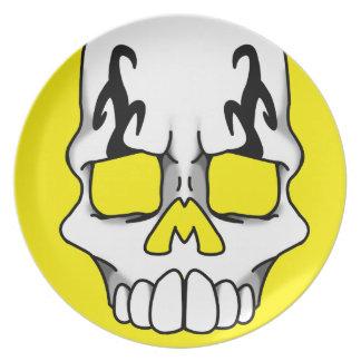 Calavera (Yellow) Plate