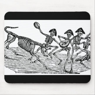 Calaveras at the Running of the Bulls c. 1800's Mouse Pad