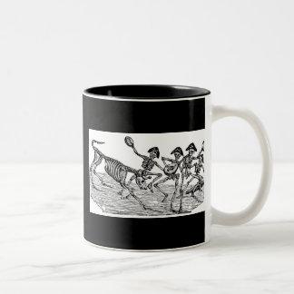 Calaveras at the Running of the Bulls c. 1800's Two-Tone Coffee Mug
