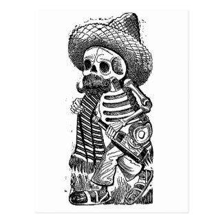 Calaveras del montón de José Guadalupe Posada Postal