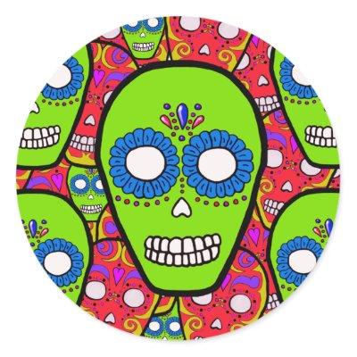 Calaveras Sugar Skulls Round