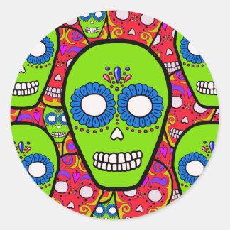 Calaveras Sugar Skulls Round Stickers