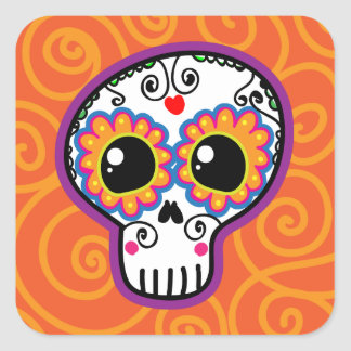 Calaverita Square Stickers