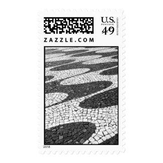 Calçada portuguesa postage stamp