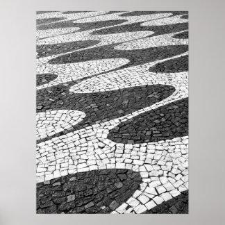 Calçada portuguesa poster