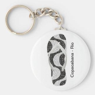 Calçadão de Copacabana Rio de Janeiro Brasil Keychain