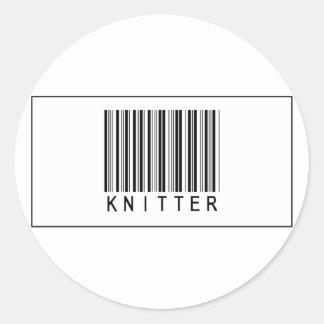 Calcetero del código de barras etiquetas redondas