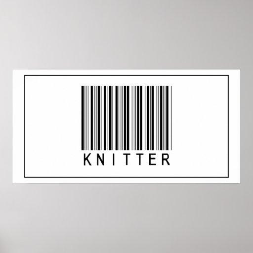 Calcetero del código de barras póster