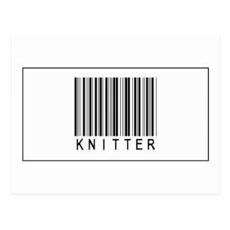 Calcetero del código de barras tarjeta postal