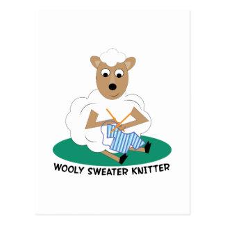 Calcetero lanoso del suéter tarjeta postal