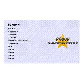 Calcetero orgulloso del marco tarjetas de visita